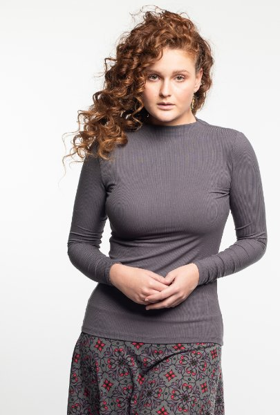 A mock neck top