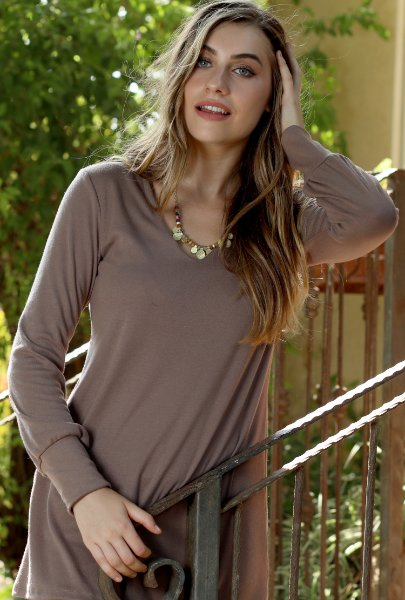 Solid color Tunic